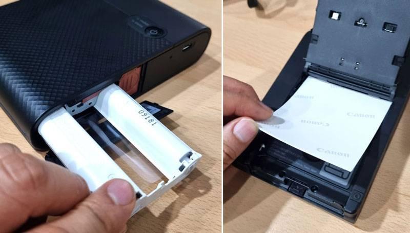 잉크 카세트와 전용 용지의 삽입