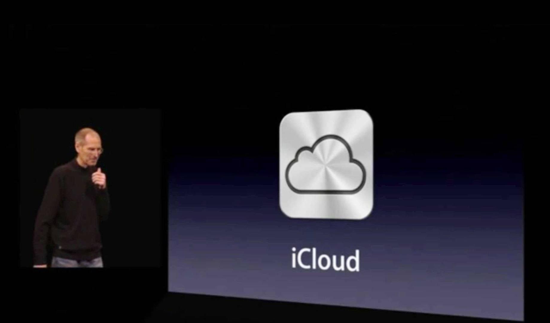 2011년 스티브 잡스가 아이클라우드를 발표하는 장면. 사진=애플