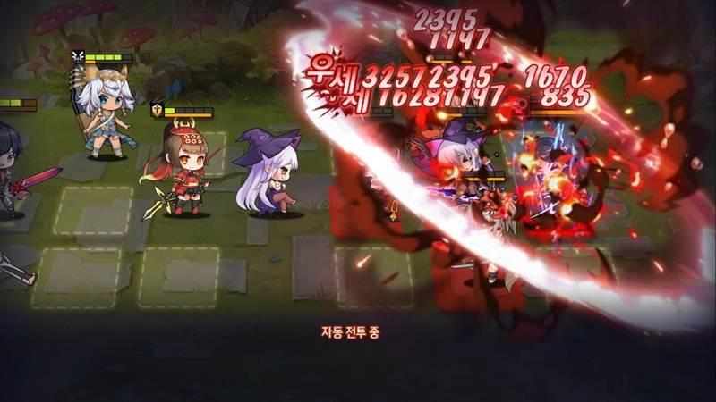 일루전커넥트의 전략적인 전투 화면