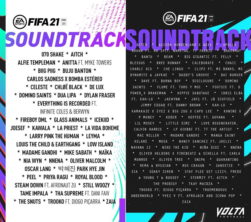 피파21과 볼타 사운드트랙