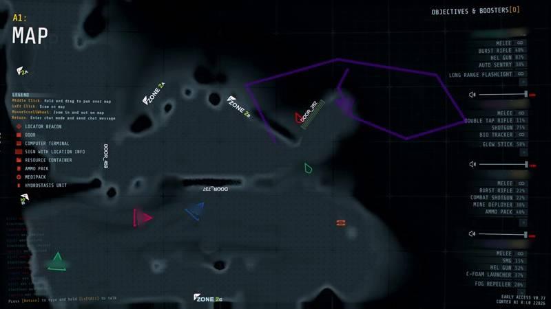 맵의 모습으로, 직접 이동해야 맵이 밝아진다.