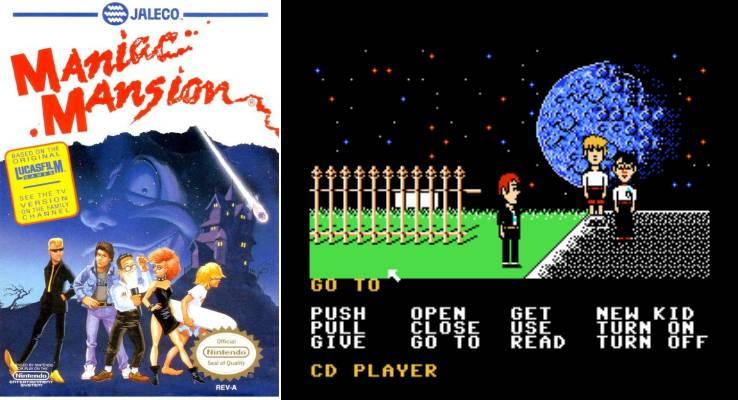 (북미판 NES의 매니악 맨션. 그래픽이 달랐다)