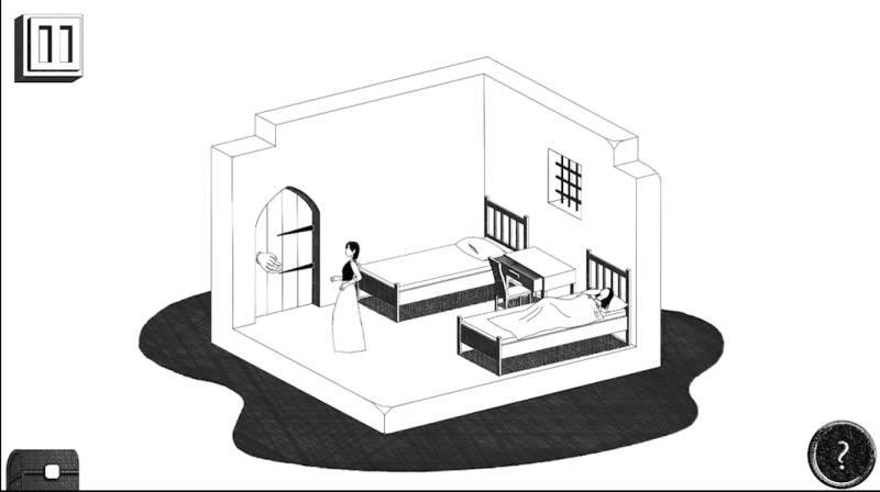 흑백의 펜터치가 인상적인 그래픽