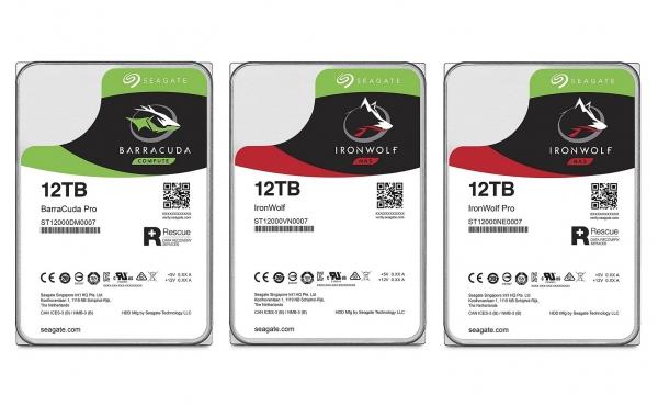 ▲ 씨게이트의 12TB HDD 라인업