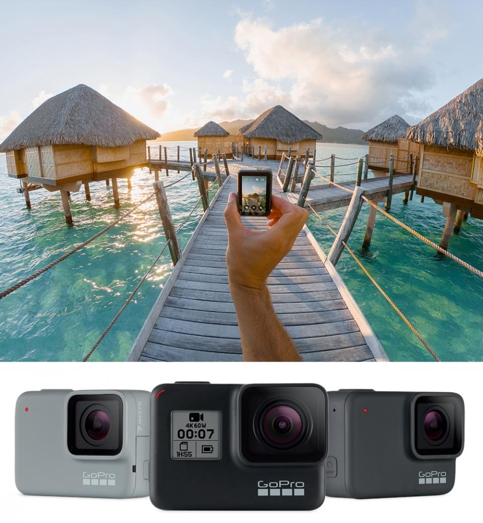 고프로 히어로7 블랙은 4K 60프레임(fps) 동영상 촬영, 수심 10m 방수, 터치스크린, 음성 제어 등의 기능을 갖추고 있는 제품이랍니다. (사진=고프로)