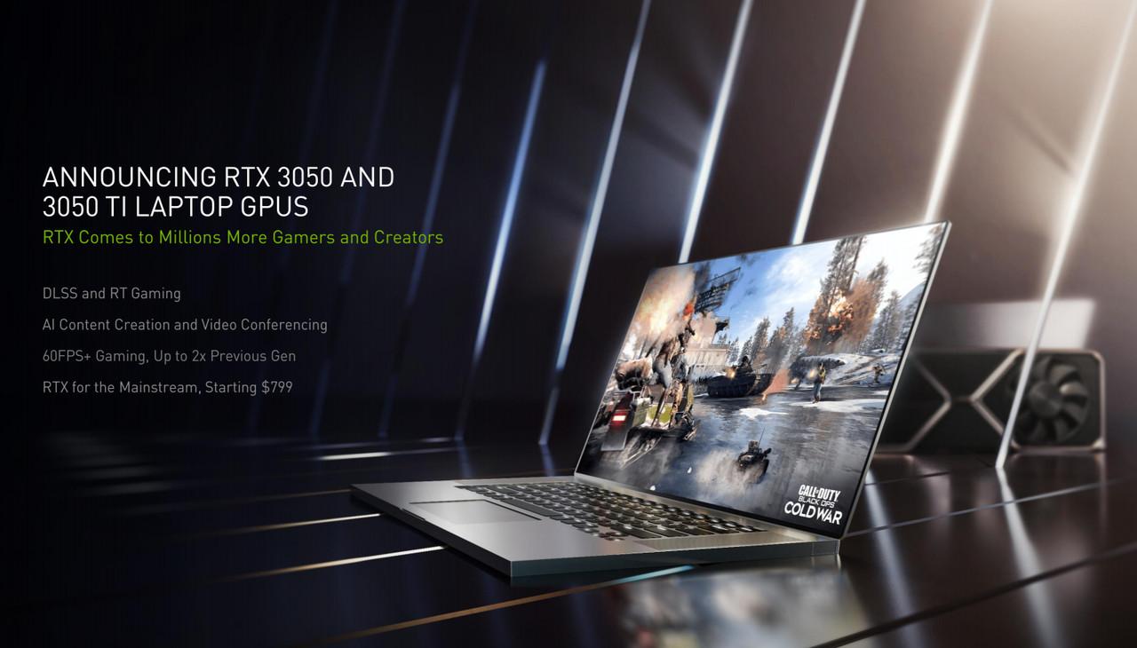 ▲ 기존 모바일 메인스트림 GPU 뛰어넘은 '지포스 RTX 3050' 시리즈