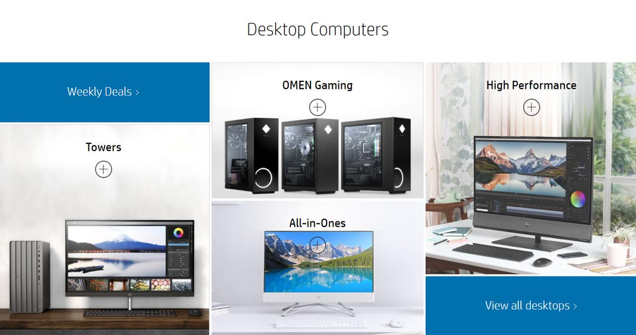 ▲ 다양한 PC 제품을 생산하고 출시하는 HP (사진: HP 스토어)