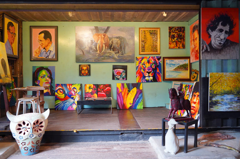 다양한 예술가의 작품들을 만날 수 있는 후아힌 아티스트 빌리지