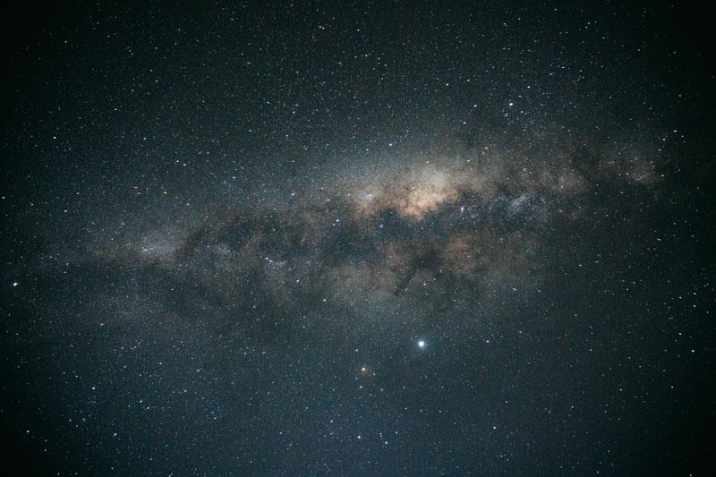 은하수가 보이는 로토루아의 밤하늘