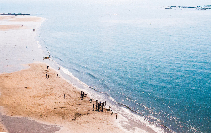짚트랙 타고 내려오면서 겨우 건진 대천해수욕장의 풍경 한 컷