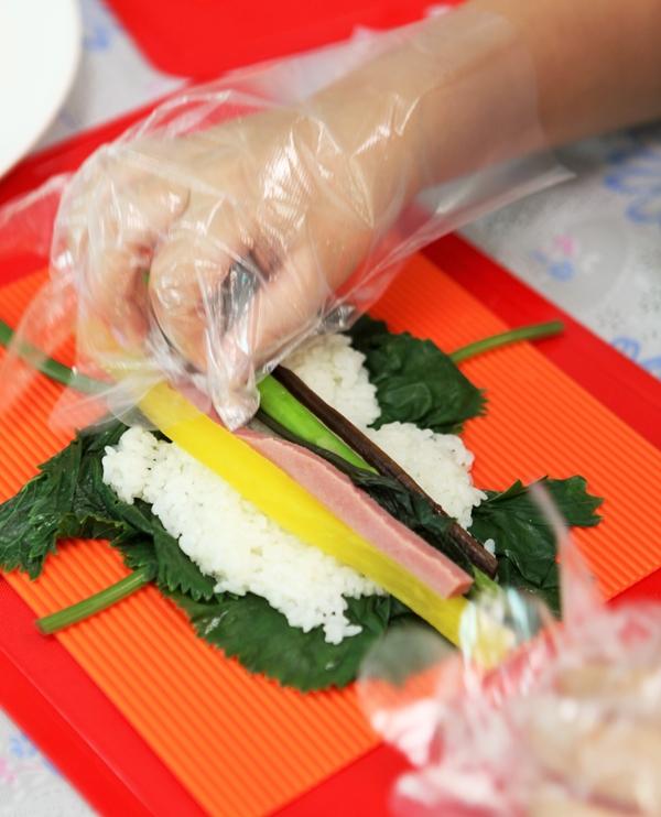 곰취로 만든 김밥