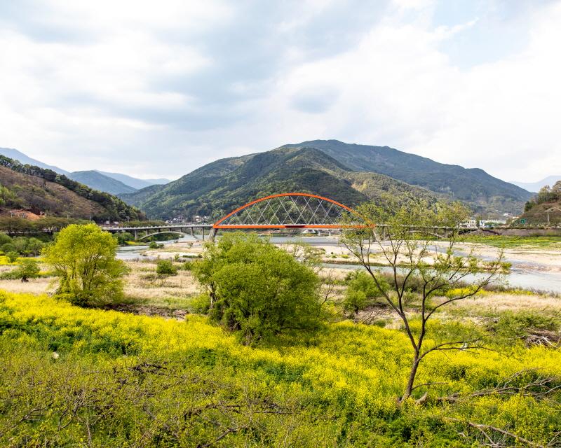 화개장터 남도대교의 아름다운 봄 풍경