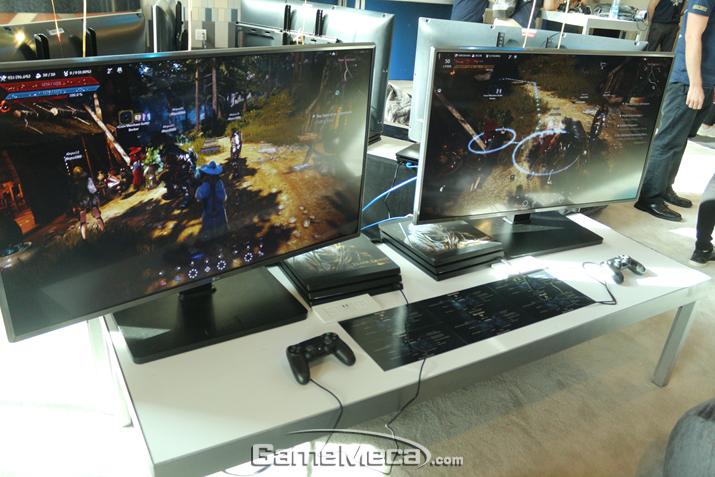 지난 6월 처음 선보여진 '검은사막' PS4 버전 (사진: 게임메카 촬영)