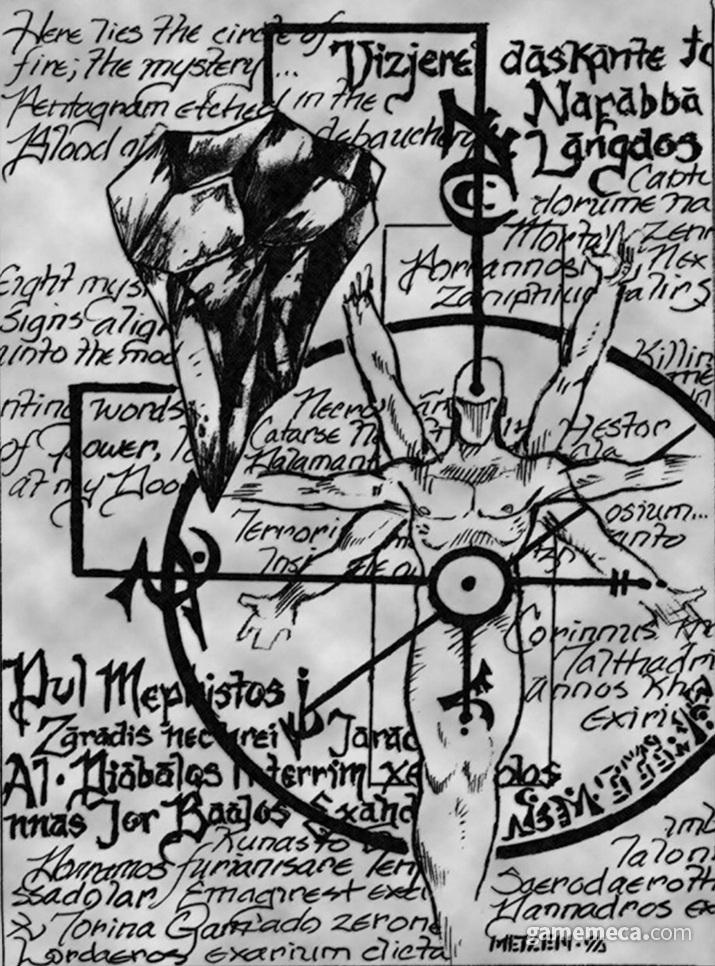 멧젠의 설정에서 영혼석은 처음부터 중요한 역할을 담당했다 (사진출처: 디아블로 매뉴얼)