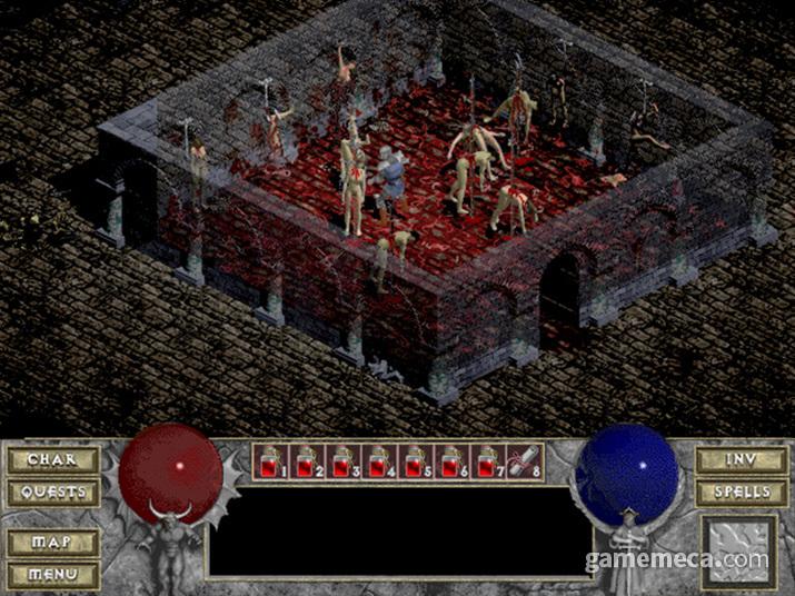 괴기스러운 분위기의 던전 크롤 액션 RPG를 지향한 디아블로 (사진출처: GoG)