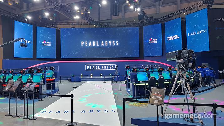 '섀도우 아레나'는 지스타 2019 펄어비스 부스에서 직접 체험해볼 수 있다 (사진: 게임메카 촬영)