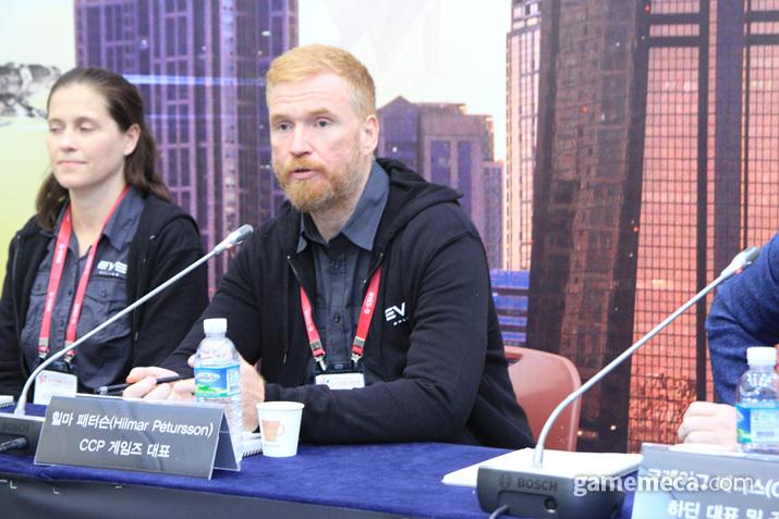 CCP 대표 힐마 피터슨이 한국을 찾았다 (사진: 게임메카 촬영)