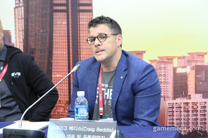 하딤 대표 크레이그 베디스는 (사진: 게임메카 촬영)