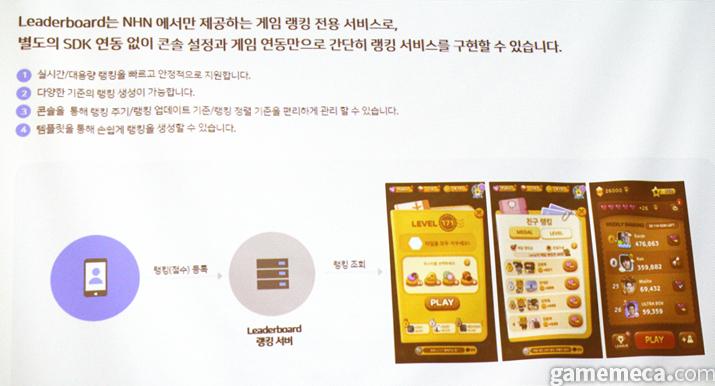 게임베이스 자매품인 리더보드 (사진: 게임메카 촬영)