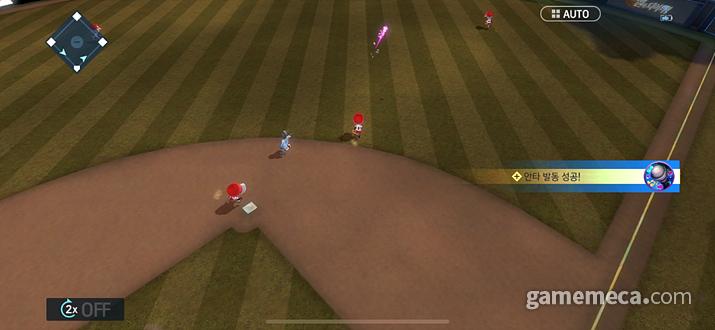 공을 치고 수비하고 진루하는 등 전체적인 과정이 상당히 직관적이다 (사진: 게임메카 촬영)