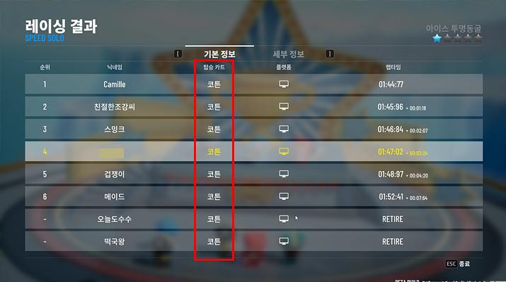 벌써부터 코튼으로 통일된 게임을 보니 운영측의 세심한 관리가 필요하겠다는 생각이 든다 (사진: 게임메카 촬영)