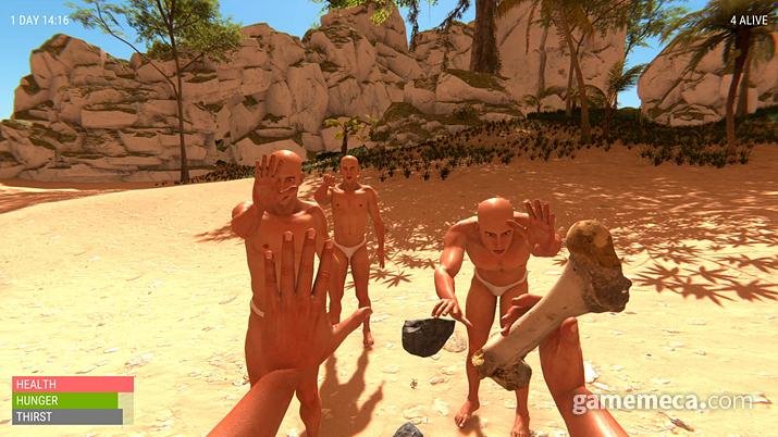 팬티맨들과 함께 살아남는 '핸드 시뮬레이터: 서바이벌' (사진출처: 스팀)