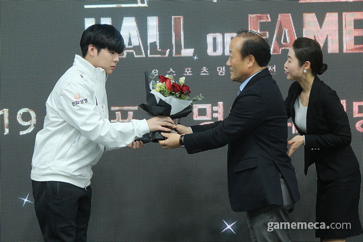 '스타즈' 부문 대표로 무대에 오른 카트라이더의 문호준 (사진: 게임메카 촬영)