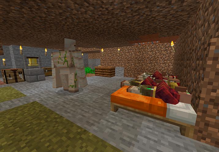 마을 사람들에 기생하다 못해 착취까지 가하는 마인크래프트 플레이어 (사진제공: 노동8호)