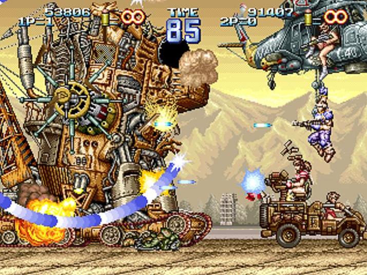 메탈슬러그의 전신 격으로 간주되는 '지오스톰' (사진출처: Video Game Museum)
