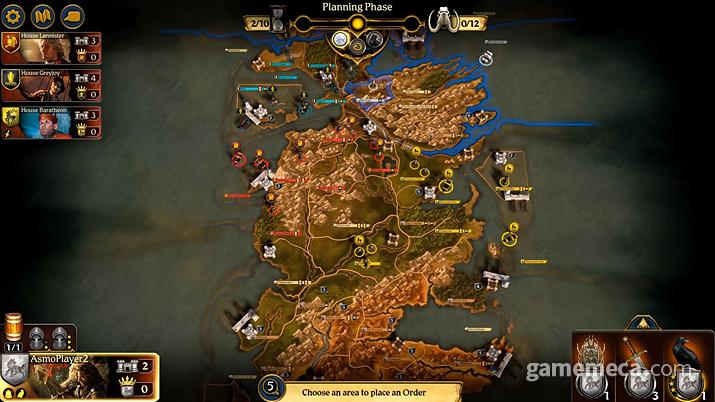 디지털 버전의 스팀 출시를 앞두고 있는 보드게임 '왕좌의 게임' (사진출처: 스팀)