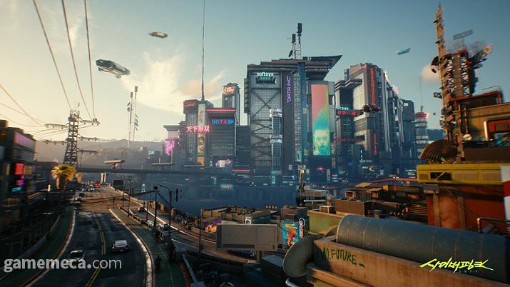 2077년 나이트 시티는 수많은 광고로 뒤덮여 있다 (사진출처: 사이버펑크 2077 공식 사이트)