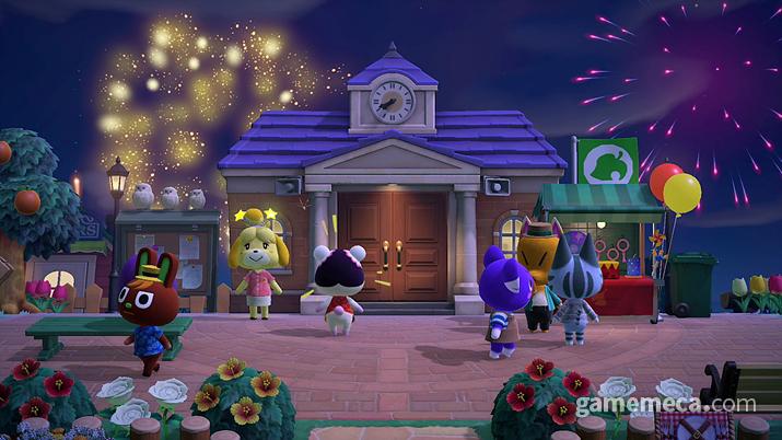 매주 일요일 저녁 열리는 불꽃축제 (사진출처: 한국닌텐도 공식 사이트)