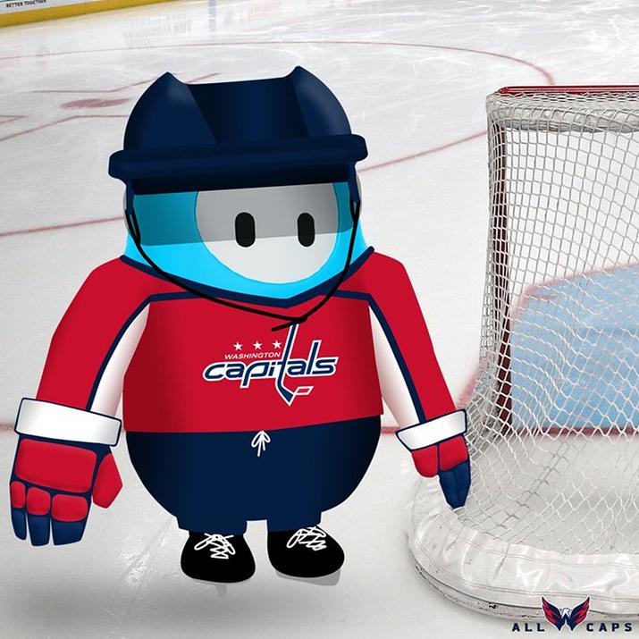 NHL 워싱턴 캐피털스 유니폼 스킨 (사진출처: 워싱턴 캐피털스 공식 트위터)