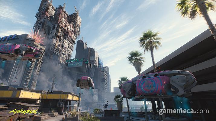 공중 차량들은 어차피 플레이어가 뺏어 탈 수 없으니 제외하자 (사진출처: 사이버펑크 2077 공식 홈페이지)