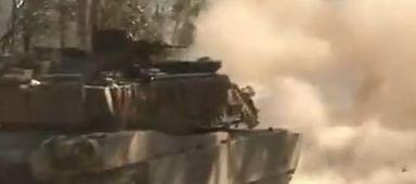 훈련중인 M1A1 전차
