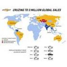 쉐보레 크루즈, 글로벌 누적 판매 3백만대 기록