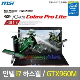 GTX960M 장착! 17.3인치 MSI 게이밍노트북 10만원 할인특가!