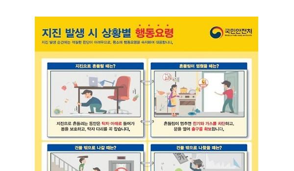지진대비훈련, 행동요령은?