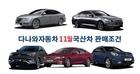국산 5개 제조업체, 11월 자동차 판매조건 발표