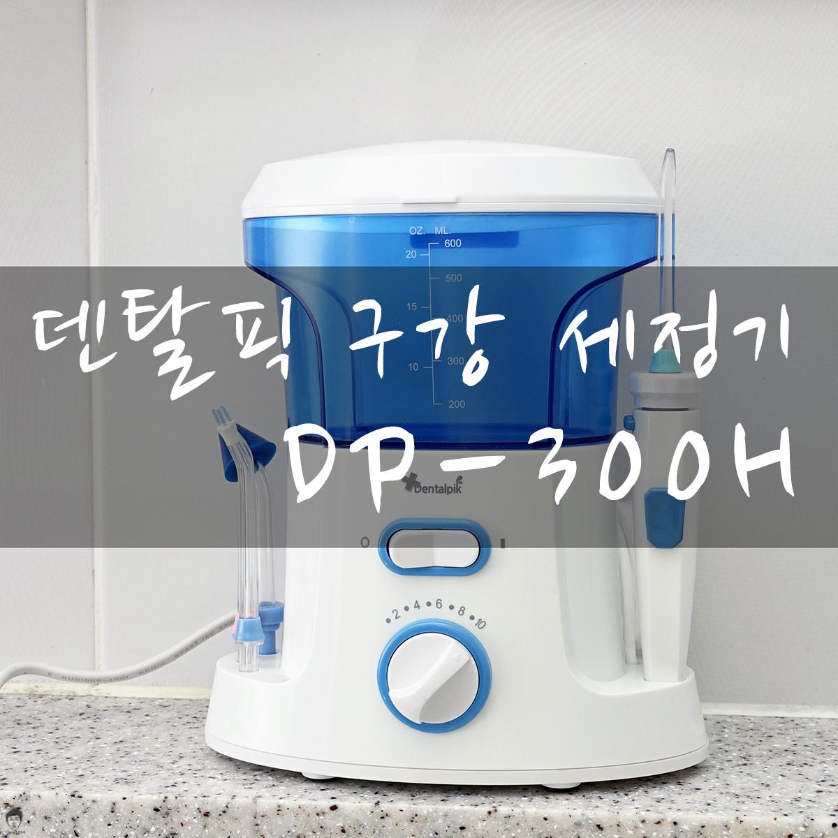 덴탈픽 구강 세정기 DP-300H로 치아관...
