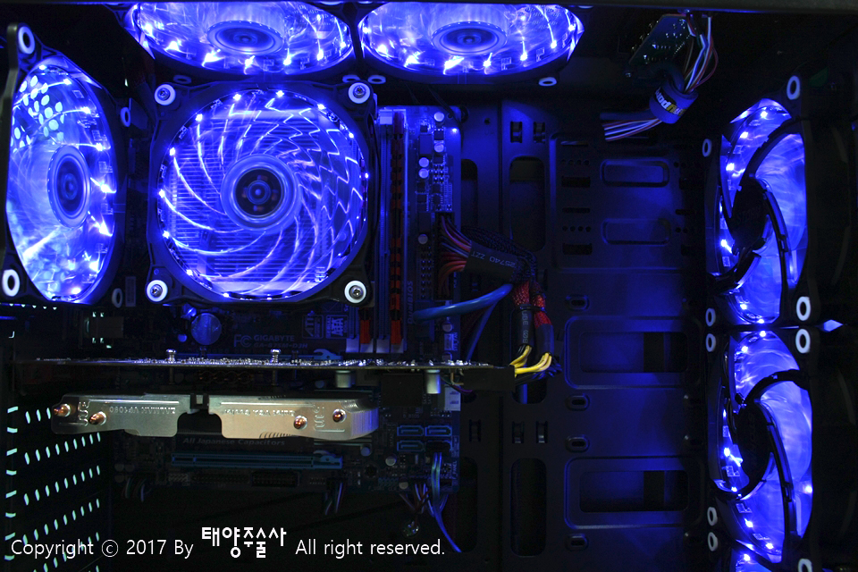 AONE STORM 15-RGB LED 120 리모콘 KIT 3팬 패키지 사용기