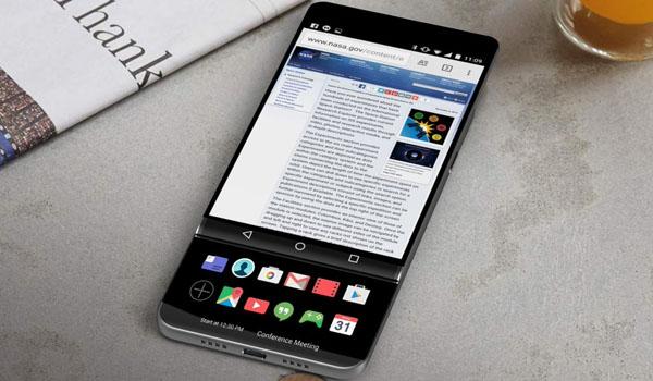 LG V30, 슬라이딩 듀얼 스크린?