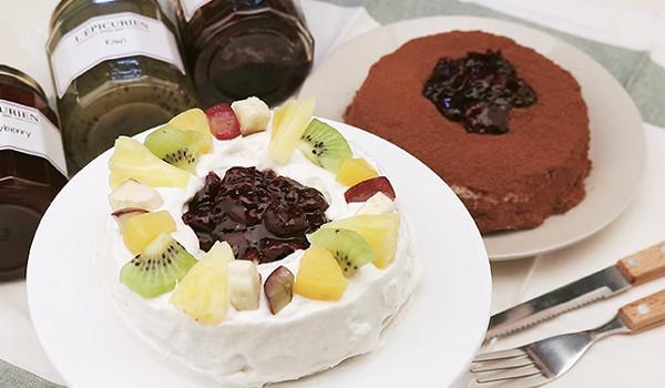 달콤한 잼있는 케이크 만들기