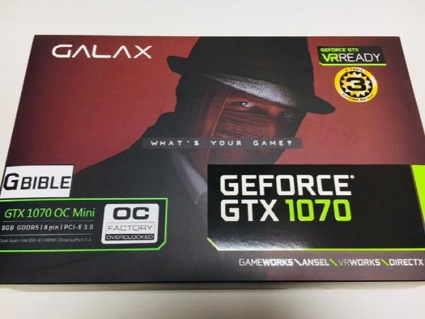 GALAX 지포스 GTX1070 OC G BIBLE D5 8GB <간단 사용기>