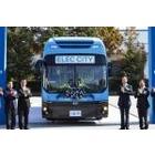 현대차, 1회 충전 300km 전기버스 '일렉시티' 1호차 전달