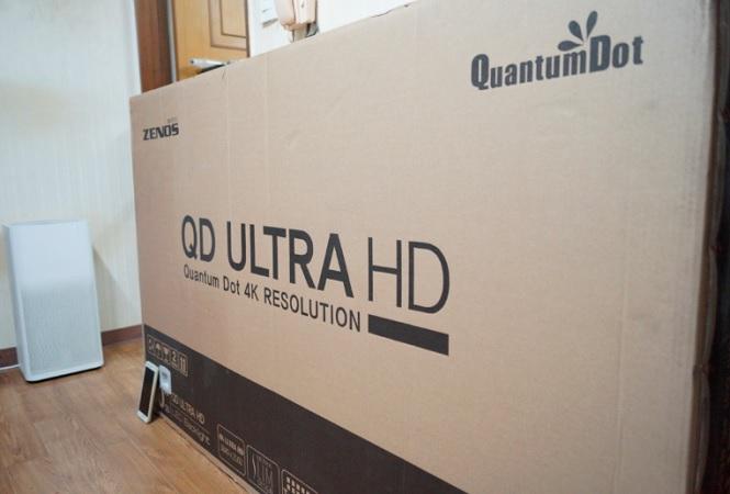 [울트라HD티비(UHDTV)] 제노스 60인치 4K UHD ZENOS ZT-QD6004KUHD 구매,개봉 및 간단사용기