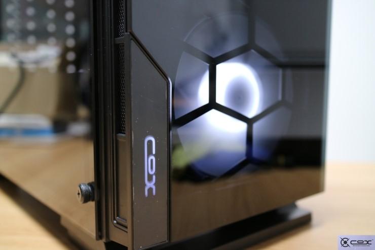 2면 강화 유리 - COX A5 셀레네 2면 강화유리 블랙 PC 케이스