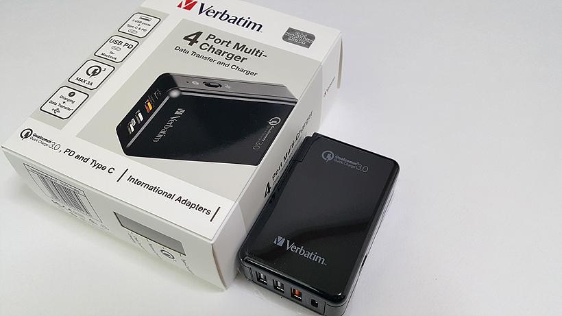 버바팀 QC 3.0 C타입 USB-PD 4포트 멀티충전기 허브