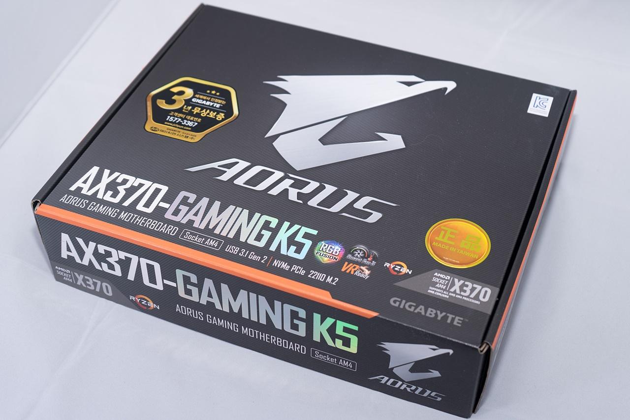 화려함과 성능의 적절한 절충 기가바이트 AORUS ax370 gaming K5 - 외형편 -