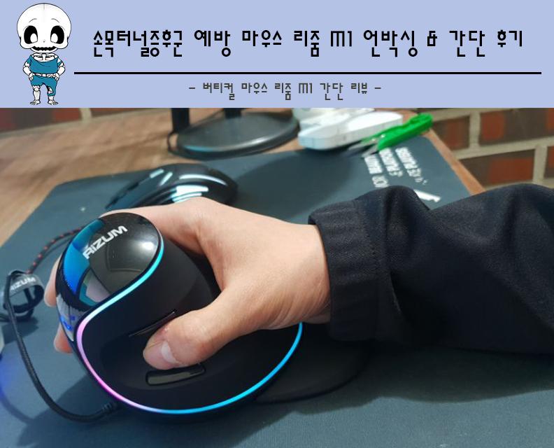 손목보호 버티컬 마우스 리줌 M1 언박싱 및 간단 후기!